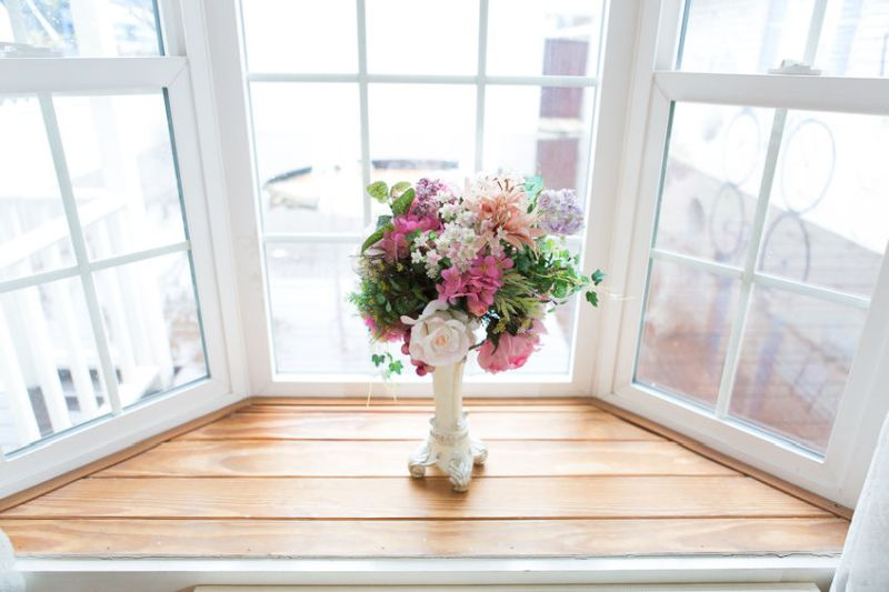 44287865 - flower, windows in vintage room