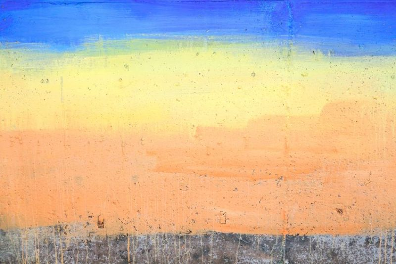 21455004 - colorful painted concrete wall background