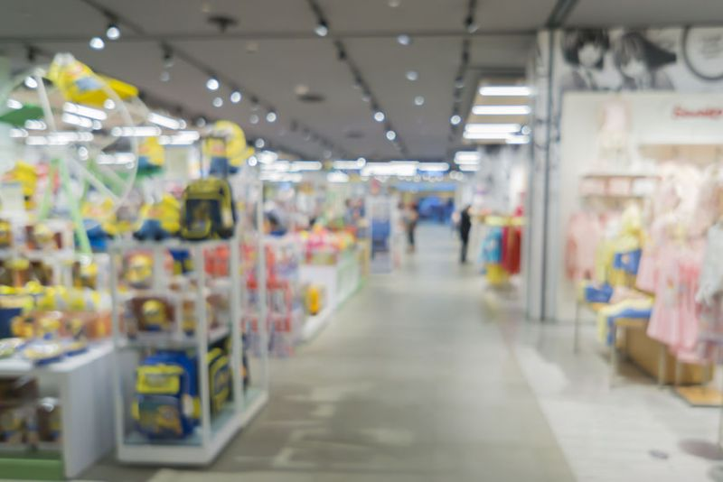 51984747 - blurred background of toys department store,natural bokeh shopping mall toy store,vintage color.