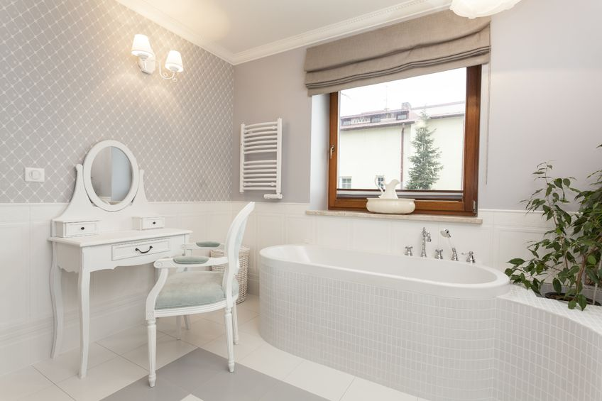 18918207 - tuscany - white spacious bathroom with a dressing table