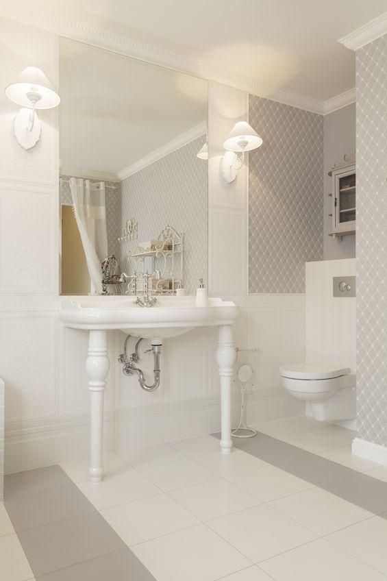 18918086 - tuscany - white wash basin in classic bathroom