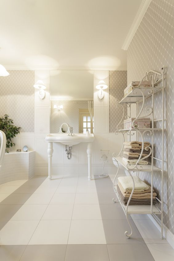 18915883 - tuscany - interior of white stylish bathroom