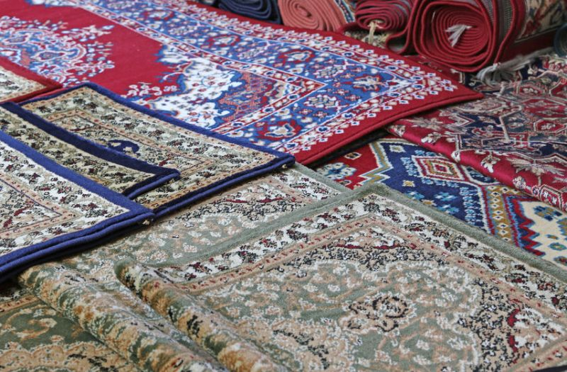 35216911 - oriental carpets for sale in the shop of rugs