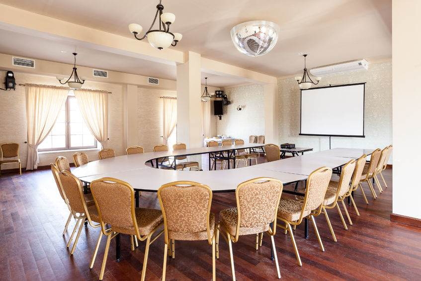 27577025 - conference room with round table and projector