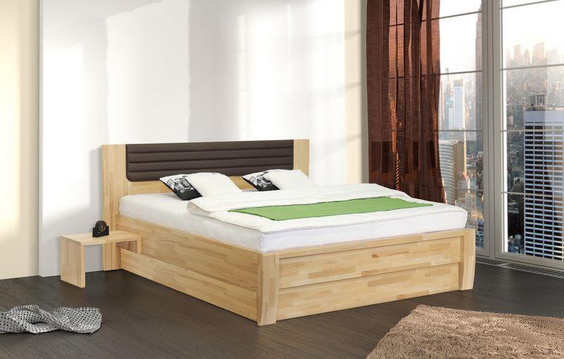 Zvýšená postel s úložným prostorem MARIKA LUX VÝKLOP